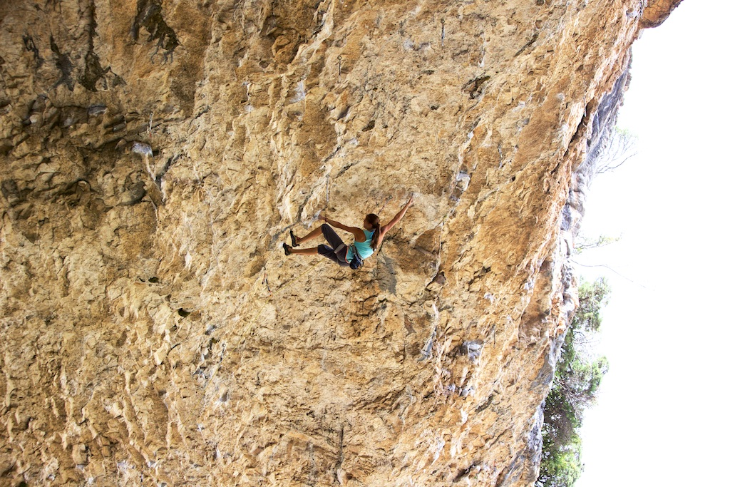 Patta Negra, 8c, 35 m with one fall just before high crux.